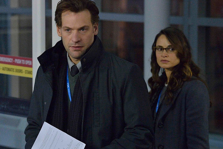 Corey Stoll and Mia Maestro in a scene from 'The Strain.' | Handout