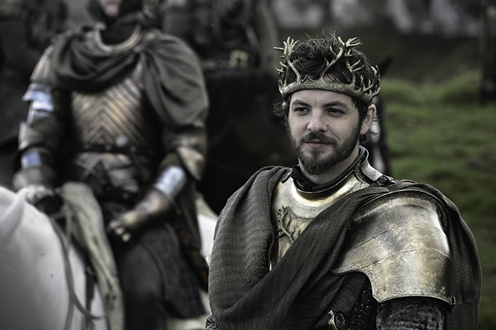 "Game of Thrones- Series 02 Episode 04 ""Garden of Bones"" Gethin Anthony as Renly Baratheon. © Home Box Office Inc."