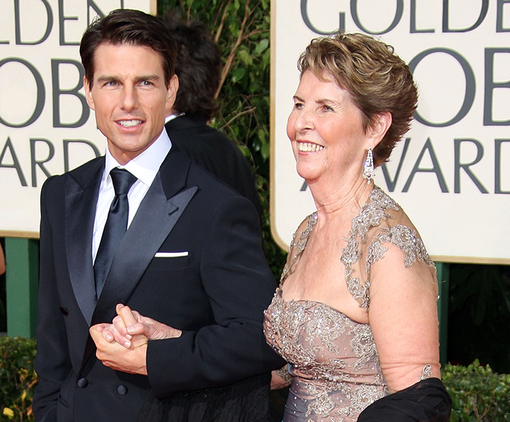 BEVERLY HILLS, CA - JANUARY 11:  Actor Tom Cruise and mother Mary Lee Mapother arrive at the 66th Annual Golden Globe Awards held at the Beverly Hilton Hotel on January 11, 2009 in Beverly Hills, California.  (Photo by Frazer Harrison/Getty Images)